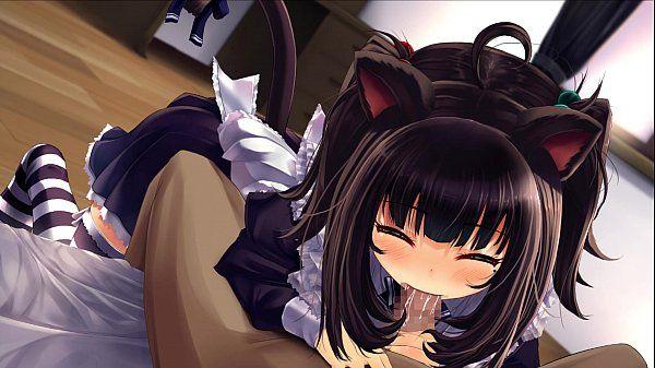 Cute kitten blowjob - 2 min