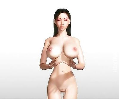 3D hentai babe in costume..